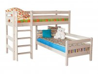Детская кровать Соня угловая с прямой лестницей Вариант 7