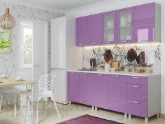 Кухня Модерн Фиолетовый Металлик