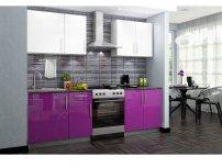 Кухонный гарнитур Хелена фиолетовый глянец